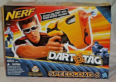 Hasbro NERF 28506 Dart Tag SPEEDLOAD 6 Action Sport Blaster Gun w/ 6 Darts NEW