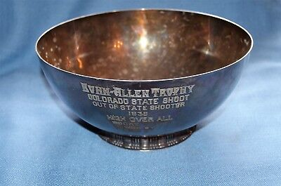 Gorham Sterling Silver Bowl with Colorado State Shoot Presentation