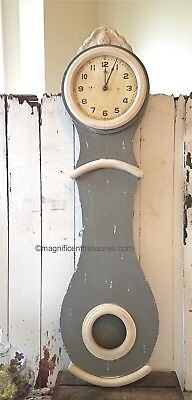 Mora Swedish Style Wall Clock Hand Made Finish Reproduction Country Cottage New