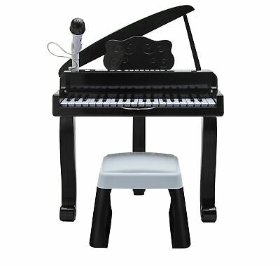 Chad Valley Grand Piano 22 Demo Songs with Sound Effects - Black