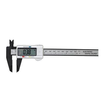 150MM 6inch LCD Digital Electronic Carbon Fiber Vernier Caliper Gauge Free Ship