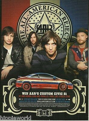 All-American Rejects 2009 Custom Honda Civic Si Tour ad 8 x 11 advertisement