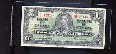 1937 Bank of Canada $1 Gordon Towers DCW60