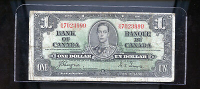 1937 Bank of Canada $1 Coyne Towers DCW77
