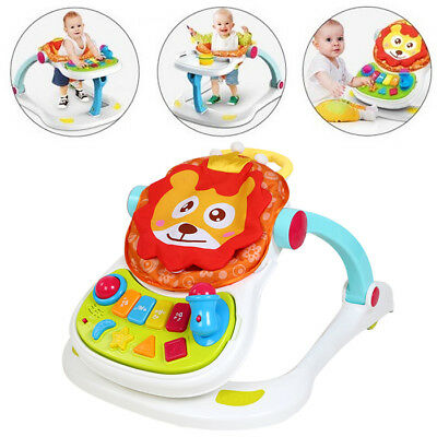 4 In 1 Baby Lion Entertainer Activity Toy Play Walker Feeder Sounds Gift Seat