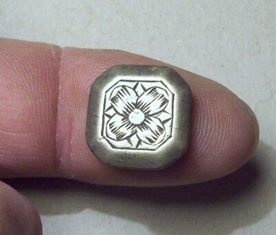 Solid Silver Button with Hallmark 1700's Metal Detecting Find.