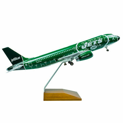 Skymarks Jetblue Airbus A320-200 NY Jets NFL Desk Display 1/100 Model Airplane