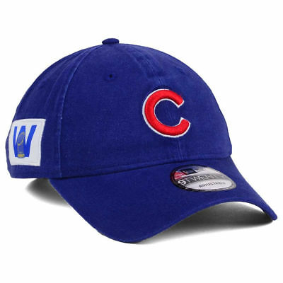 81938bb94ff Chicago Cubs MLB Win Flag World Series Trophy Patch Champions New Era Cap  Hat W