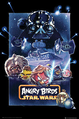 Angry Birds Star Wars Battle Poster Large Maxi Official Evil Pigs New FP2890