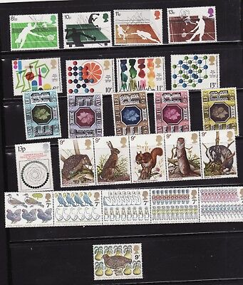 1977 all 6 COMPLETE UNMOUNTED MINT COMMEMORATIVE SETS