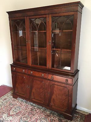 Fantastic Mahogany Three Door Glazed Bookcase