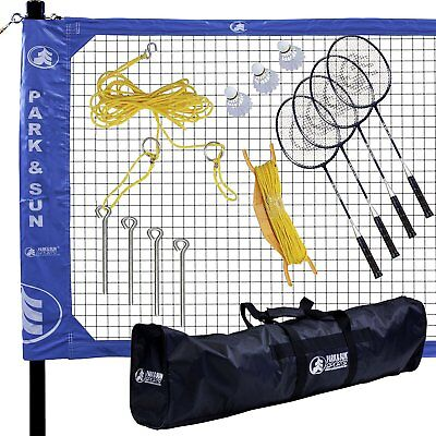 Park & Sun Sports Portable Indoor Outdoor Complete Badminton Set with Carry Case