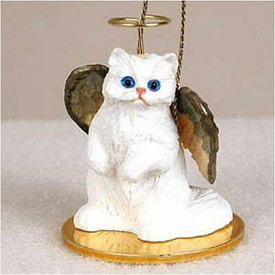 Persian White ANGEL CAT Tiny One Ornament Figurine Statue