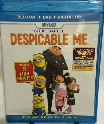 Despicable Me, Blu-ray + DVD + Digital HD, NEW FREE SHIPPING!!