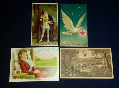Victorian Advertising Cards, Hold-to Light, Hidden Object, Red Star