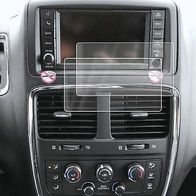 2 Fits Dodge Grand Caravan 11-17 Anti Scratch Clear Screen Saver Protector 6.5""