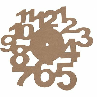 Wooden Clock Face Dial With Numbers MDF Wall Hanging DIY Clock Making D: 30 cm