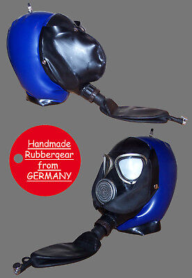 Latex Rubber Gum Studio Gas Mask inflatable Hood aufblasbar - custom-made - bl03
