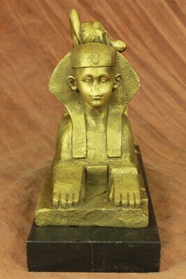Sphinx Statue Egyptian Authentic Bronze Metal Art  Figurine Deco Artwork Figure