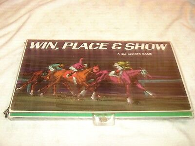 Vintage 1966 3M Sports Game Win Place Show Horse Race Board Game