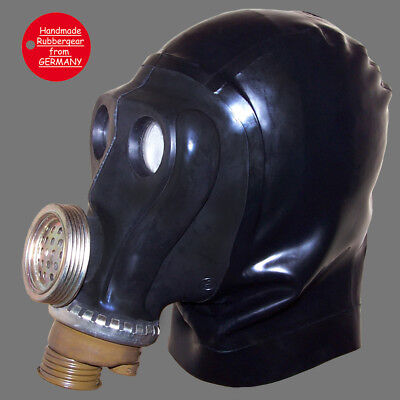 Latex Rubber Gum Studio Gas Mask - Latexmaske Gasmaske - made to measure - a1