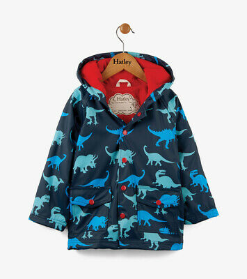 NEW Dinosaur Shadows on Blue Childrens Kids Boys Girls Raincoat By Hatley