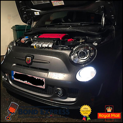 Fiat 500 2007+ Abarth Bright White LED SMD Daytime Running Lights DRL Bulbs