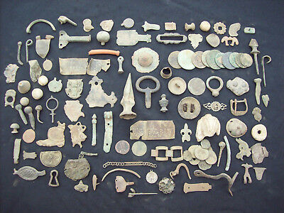 Huge Lot  Metal Detecting Finds Roman to Post Medieval.