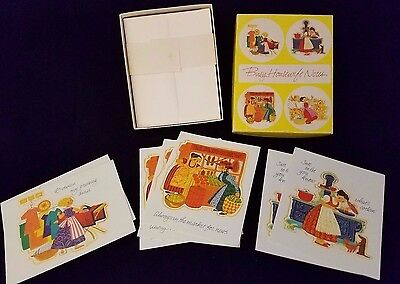 Unused vintage vintage greeting cards paper collectibles page 76 vintage current inc busy housewife note cards 7 cards with envelopes m4hsunfo