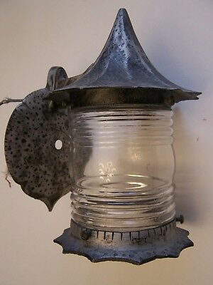 Vintage Gothic Cottage Porch Light Wall Sconce Storybook Witch Hat tested / work