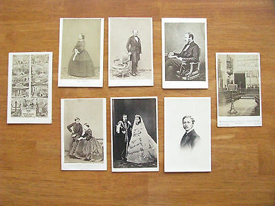 Queen Victoria And Prince Albert Photo Group Civil War Cdv Era Images