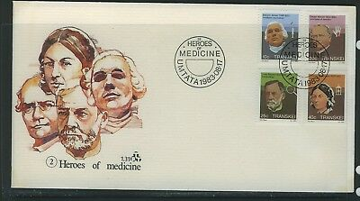 Transkei 1983 Heroes of Medicine  First Day Cover 1.31
