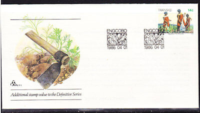 Transkei 1986 - 14c Weeding Additional Issue First Day Cover 2.7.1