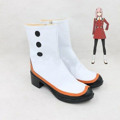 DARLING in the FRANXX Strelizia 02 ZERO TWO Cosplay Shoes Ankle Boot Anime