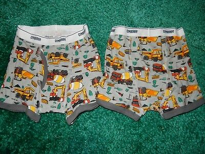 NWT Size XS 4 Gymboree Trucks Heavy Equipment Boys Boxer Briefs Underwear