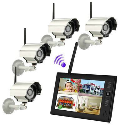 "SY602D14 7"" TFT LCD 2.4G 4CH Wireless DVR IR-CUT HD Camera Home Security System"