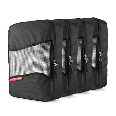 4 Set Travel Storage Bags Luggage Organizer Pouch Packing Clothes Cube