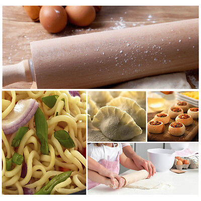 L/M/S Natural Wooden Rolling Pin Making Cake Pizza Bread Noodles Kitchen Tool