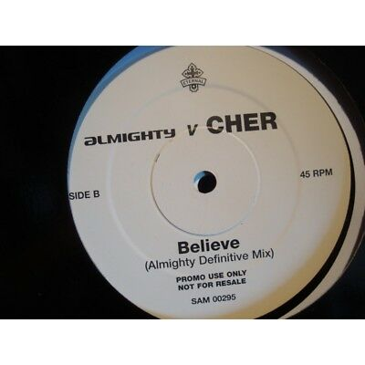 """CHER if i could turn back time/believe/one by one 2 X MAXI 12"""" Promo Eternal VG+"""
