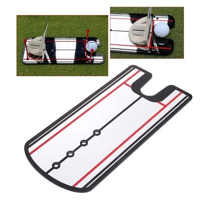 Golf Swing Practice 31×14.5cm Putting Mirror Alignment Training Aid Eye Line