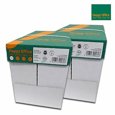 5000 Blatt Happy Office 80g/m² Papier DIN A4 Kopierpapier HappyOffice weiß