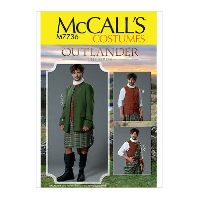 MCCALL\'S 7736 SEWING Pattern to MAKE Outlander Costume incl Vest ...