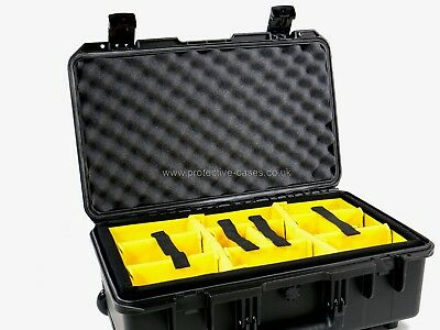 Peli Storm iM2500 Airline Carry On Black Case With Yellow Dividers