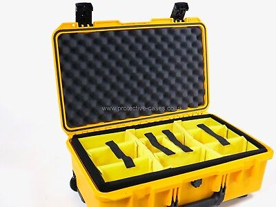 Peli Storm iM2500 Airline Carry On Yellow Case With Yellow Dividers