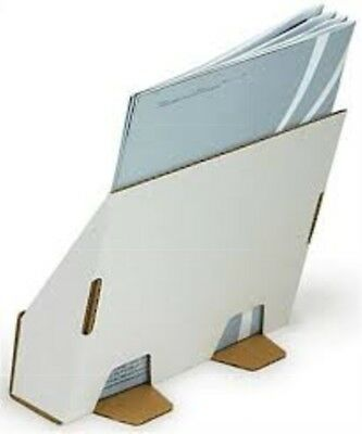 Lot of 10 Literature Holder Tabletop Fits 8.5 x 11 Magazines Ships Flat - White