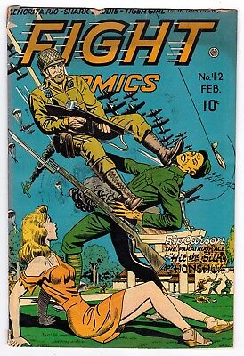 Fight Comics 42, Vg- (3.5), 1946 Fiction House Publication, Good Girl War Cover