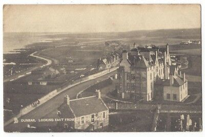 DUNBAR Looking East From Church Tower, Old Postcard by Tuck Postmark Dunbar 1912