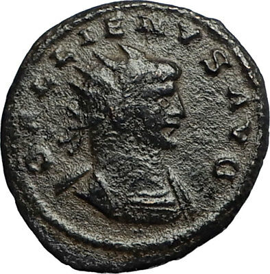 GALLIENUS Authentic Ancient 265AD Antioch Roman Coin w MERCURY MONEY GOD i67760