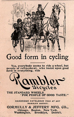 AD LOT OF 13 EARLY BICYCLE ADS GORMULLY JEFFERY g & j tire