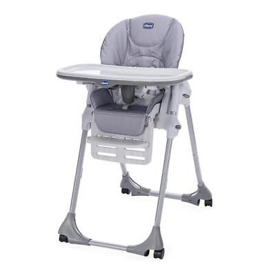 Chicco Polly Easy Highchair 4-Wheel (Nature) Suitable From Birth